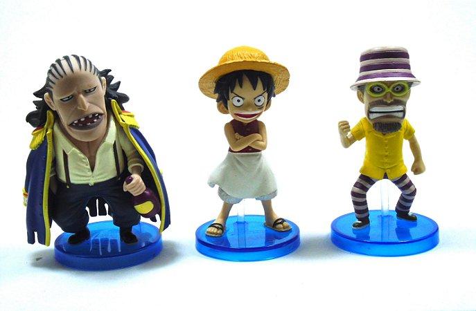 Banpresto One Piece Luffy, Woop Slap , Bluejam WCF  Set com 03 Loose