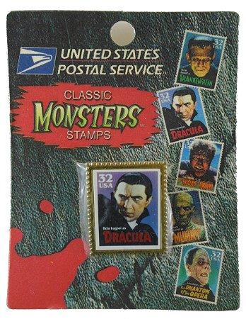 US Postal Service Classic Universal Monsters Stamps Selo Metal Drácula
