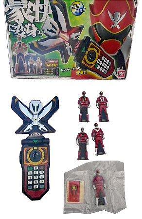 Bandai Gokaiger Super Megaforce Morphador Mobitares com 05 ranger keys DX