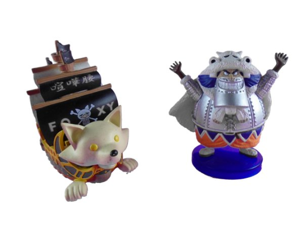 Banpresto One Piece Wapol e Navio Foxxy WCF Set com  02 Loose