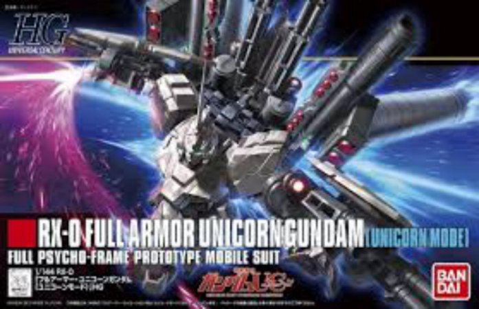 Bandai HGUC RX-0 Full Armor Unicorn Gundam [Unicorn Mode] 1/144 Model Kit