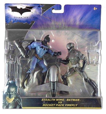 Mattel Batman TDK Stealth Wing Batman Vs Rocket Pack Firefly
