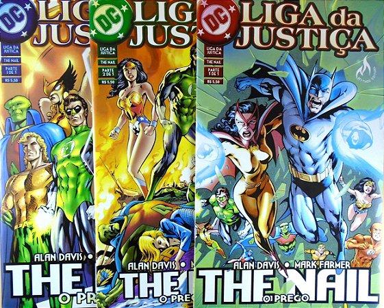 Mythos Liga da Justiça The Nail (O Prego) Mini-Série Completa em 3 Edições