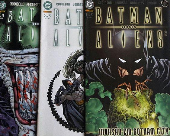 Batman Versus Aliens 2 Mini-Série Completa em 3 Edições Ed. Panini