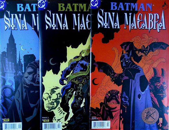 Mythos Batman Sina Macabara Mini-Série Completa em 3 Edições