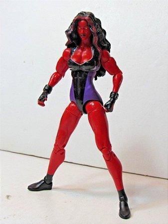 Marvel Legends  Mulher-Hulk Vermelha Sem Peça BAF Hasbro