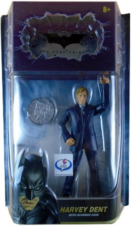 Mattel DC Batman TDK Harvey Dent Figure Whith Scarred Coin