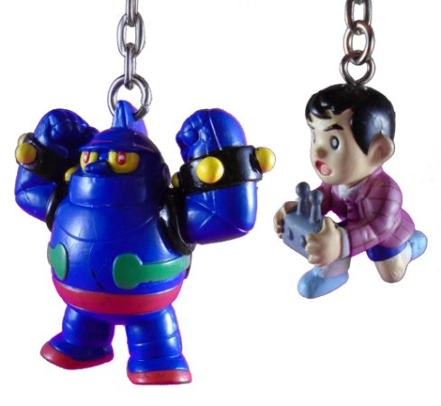 Banpresto 1998 Chaveiro Tetsujin 28-Go Gigantor e Jimmy Sparks