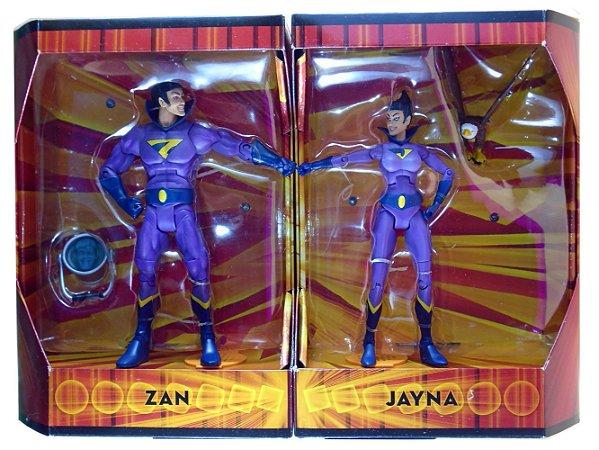 Exclusivo SDCC 2009 Mattel DC Universe Wonder Twins (Super Gêmeos) Zan Jayna