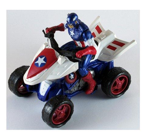 Hasbro 2010 Marvel Quadriciclo Capitão América 1/18 Loose