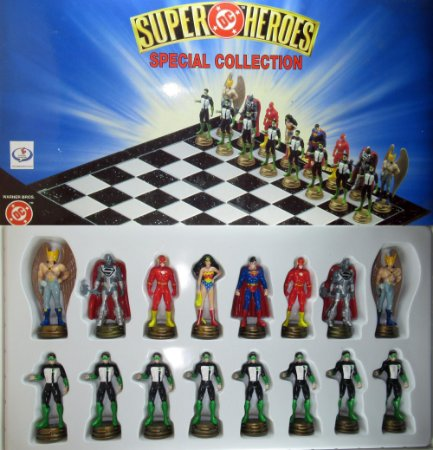 Xadrez DC Super Heroes Special Collection 16 Peças Chess Pieces