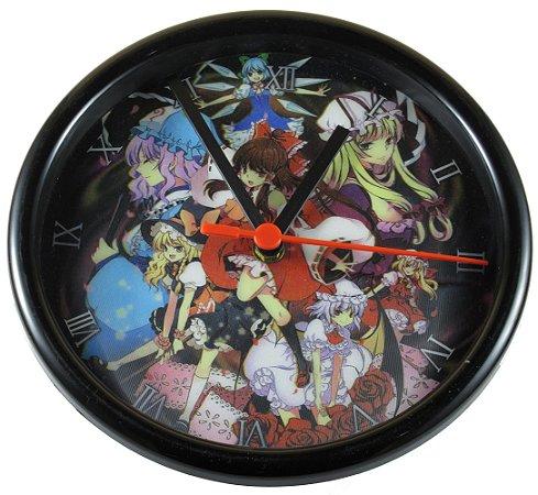 Relógio de Parede Analógico Temático Anime / Jogo 3D