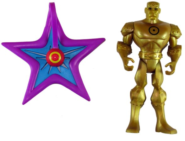 Mattel DC Batman Brave and Bold Gold Metal Men Super Attack Starro Loose