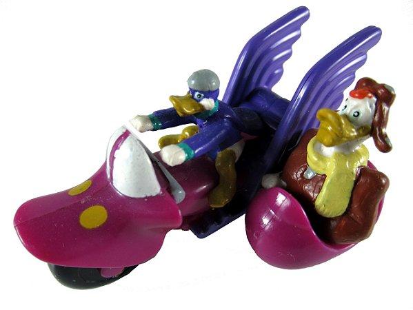 Disney Applause Miniatura Darkwing Duck e Capitão Boing na Moto