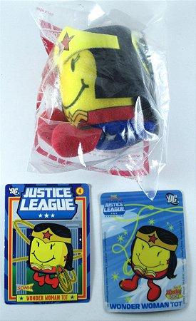 Sonic Tots Justice League Pelúcia Wonder Woman (Mulher Maravilha)