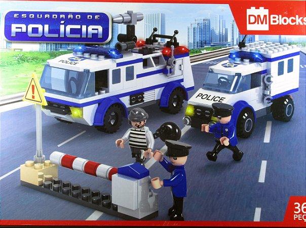 DM Blocks Esquadrão de Polícia 368 Peças Estilo Lego