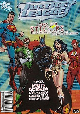 Livro de Stickers Liga da Justiça Importado