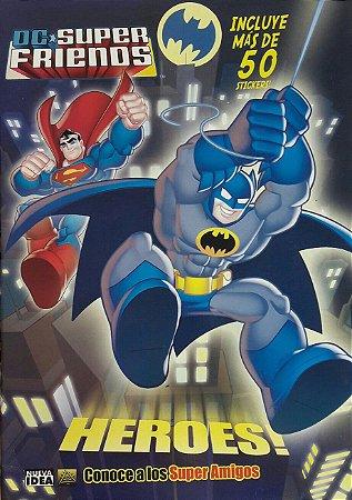 Livro de Stickers DC Super Friends Importado
