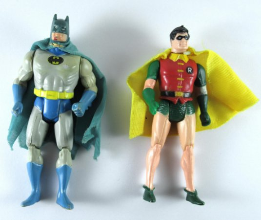 Estrela Mattel DC Batman e Robin Super Powers Vintage Loose