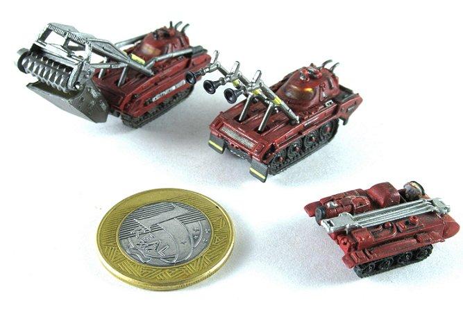 Miniatura Veículos Thunderbirds - Set com 03 Loose