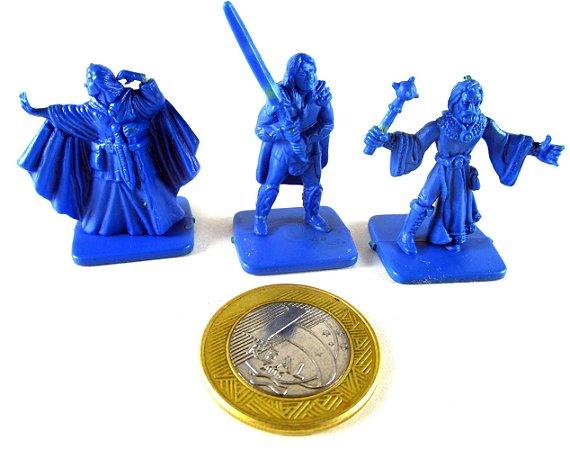 Miniaturas PVC para Tabuleiro de  RPG - Mago e guerreiros - set com 03