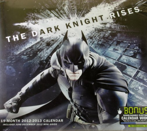 DC Calendário 2012 - 2013 Batman The Dark Knight Rises
