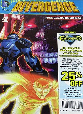 DC Comics Divergence #1 Free Comic Book Day Importado