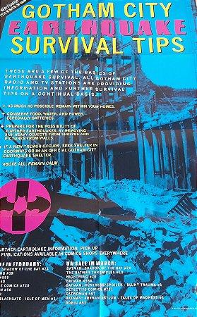 Poster Gotham City Earthquake