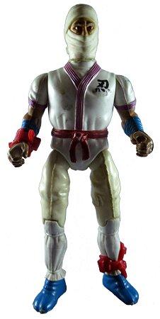 Glasslite 1985  Rambo Ninja Dragão Branco Vintage Loose