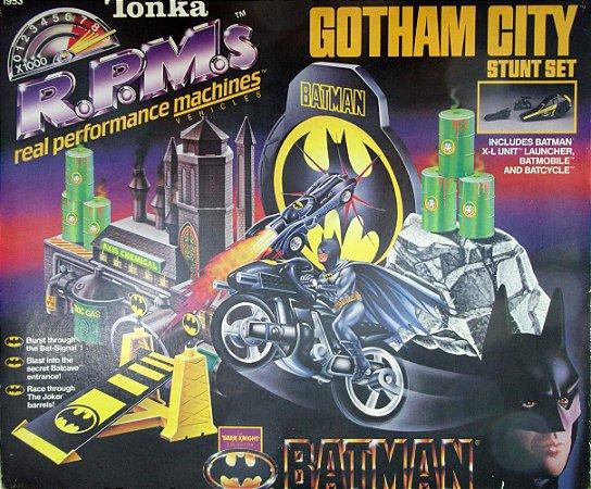 Tonka 1990 DC Batman The Dark Knight Collection R.P.M´S Gotham City Stunt Set