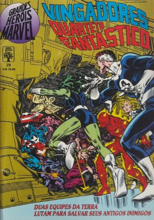 Grandes Heróis Marvel #29 - Vingadores Quarteto Fantástico