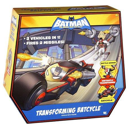 Mattel Batman Brave and Bold Transforming Batcycle Figure