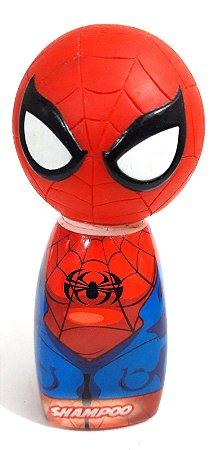 Garrafa Shampoo Temática Marvel Super Hero Squad Spider Man (Homem Aranha)