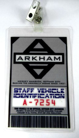 Crachá Acesso Asilo Arkham Staff Vehicle (Motorista) para Cosplay Batman
