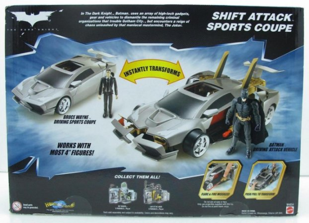 DC Batman TDK Shift Attack Sports Coupe (Carro Esporte de Ataque)