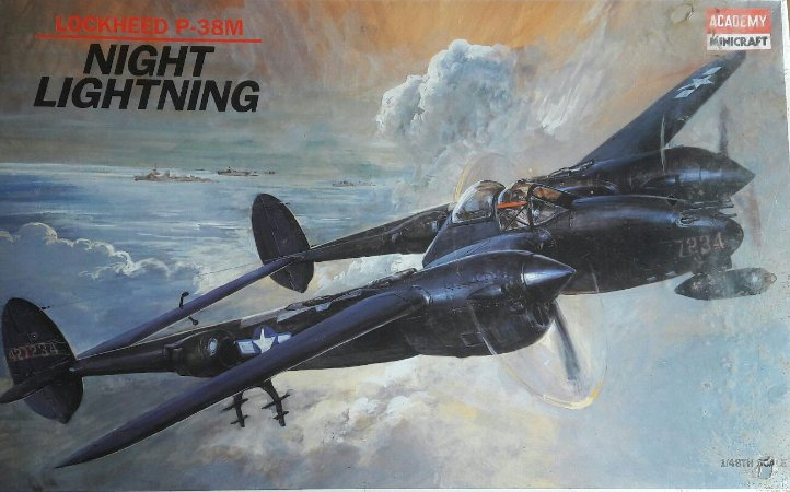 Academy - Lockheed P38-M Night Lighting - Model Kit 1/48