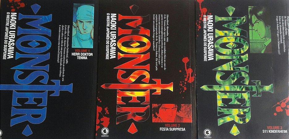 Monster #1 ao #3 (3 Edições) - Ed. Conrad