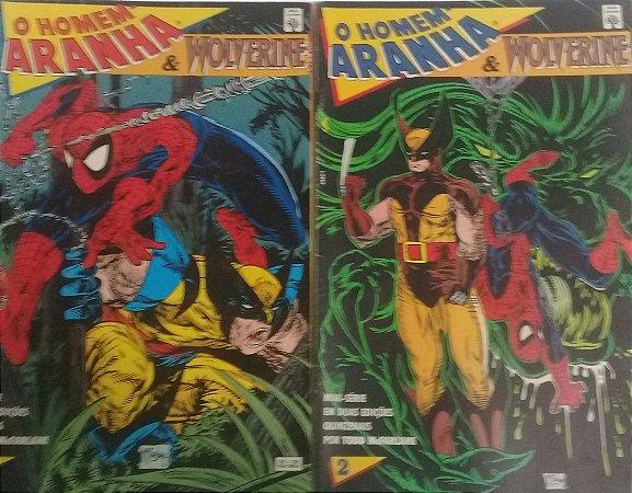 O Homem-Aranha e Wolverine Ed. Abril