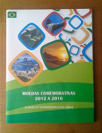 Álbum de Moedas Comemorativas 2012 a 20016 Olimpiadas Rio de Janeiro