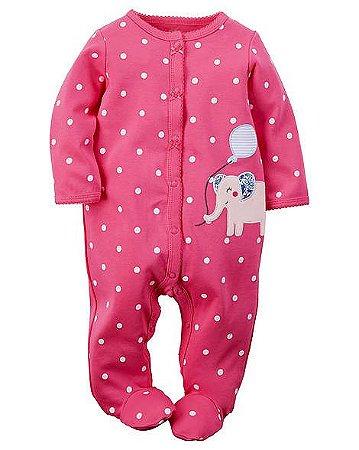 7dcf5dda600cc Macacão Menina Elefante - 9 Meses - Amor de Irmãos - Moda Baby