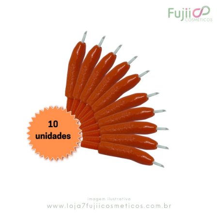 10 unidades - Lâmina Tebori GR Colors 7 Pontas Flex