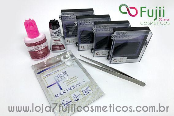Kit Alongamento/Extensão de Cílios Fio a Fio - Mink