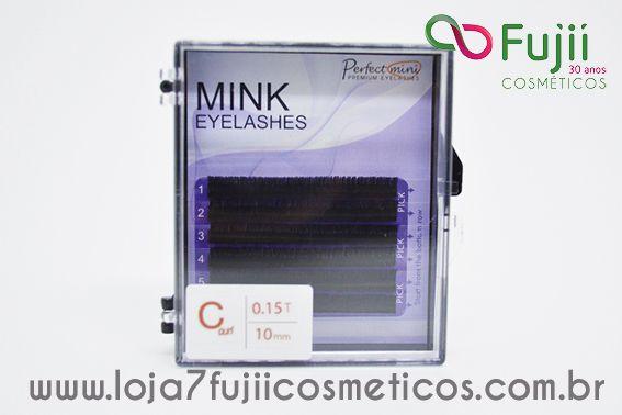 Cílios Fio a Fio Mink 10 mm - C 0.15 Preto
