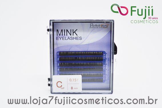 Cílios Fio a Fio Mink 8 mm - C 0.15 Preto