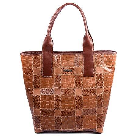 Bolsa Couro Griffazzi Shopping Bag Pinhao