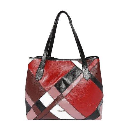 Bolsa de Couro Griffazzi Preta com cores