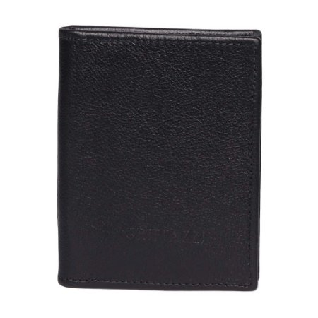 Porta passaporte de Couro Griffazzi Preta