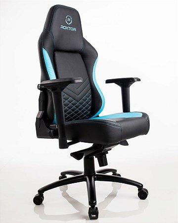 Cadeira gamer Ergonômica Azul e preta Roxtor 5030