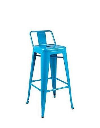 Banqueta Tolix Azul - Design Industrial 76 Cm