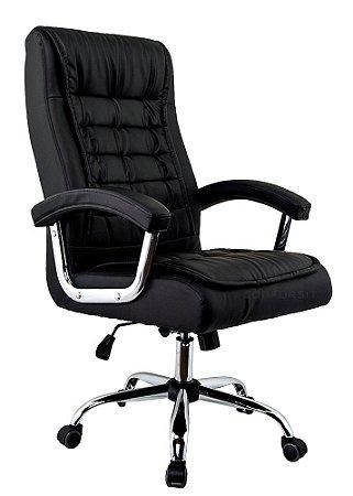 Cadeira Escritório Presidente Munique Preta - Molas Ensacadas